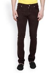 TNG New York Men Coffee Brown Corduroy Trousers