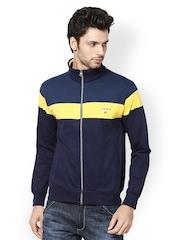 Taanz Men Navy Striped Sweatshirt