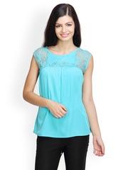 Tapyti Women Turquoise Blue Top