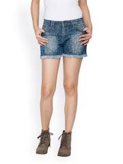 TARAMA Women Blue Shorts