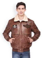 Teakwood Leathers Men Brown Jacket