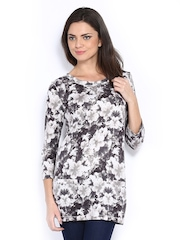 The Collection by Debenhams Women Off-White & Grey Floral Print Tunic