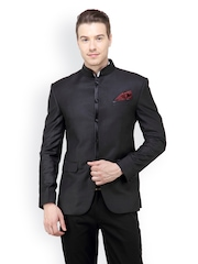 The Design Factory Black Slim Fit Single Breasted Suit