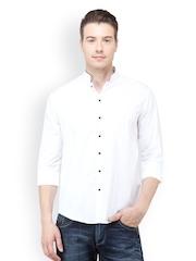 The Design Factory Men White Casual Shirt