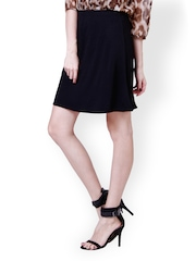 The Gud Look Black A-Line Skirt