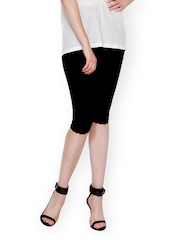 The Gud Look Women Black Capris