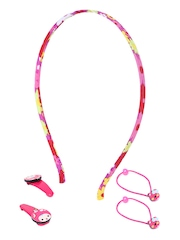 The Hair Klip Girls Pink Hair Accessory Set