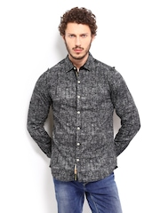 The Indian Garage Co Men Black & White Casual Shirt