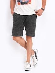 The Indian Garage Co Men Black Shorts