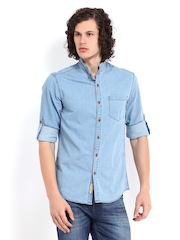 The Indian Garage Co Men Blue Denim Shirt