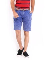The Indian Garage Co Men Blue Shorts