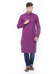 The Indian Garage Co Men Purple Kurta