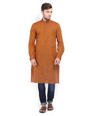The Indian Garage Co Men Brown Kurta