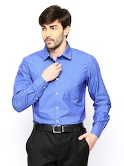 The Privilege Club Blue Slim Fit Formal Shirt