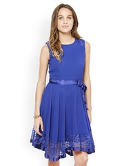 The Vanca Blue Fit & Flare Dress