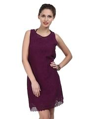 The Vanca Purple Lace Dress