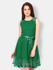 The Vanca Green Fit & Flare Dress
