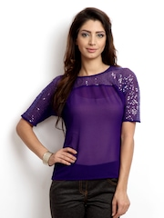 The Vanca Women Purple Top