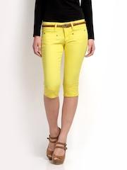 The Vanca Women Yellow Capris