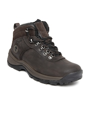 Timberland Men Black Flume Mid WP Leather Boots
