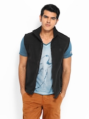Timberland Men Black Sleeveless Sweatshirt