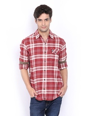 Timberland Red & White Casual Shirt