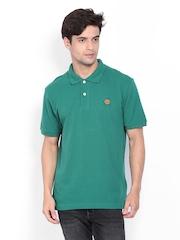Timberland Men Green Polo T-shirt