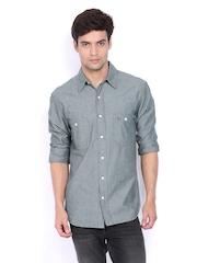 Timberland Men Grey Slim Fit Casual Shirt