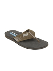 Timberland Men Brown EK Leather/Fabric Sandals