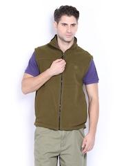 Timberland Men Olive Green Sleeveless Sweatshirt