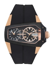 Time Force Men Black Dial Watch