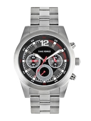 Time Force Men Grey & Black Dial Watch