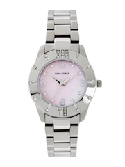 Time Force Women Pearly Pink Dial Watch
