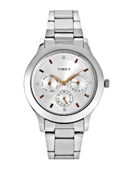 Timex Women Silver-Toned Dial Watch TI000Q80300