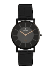 Titan Edge Men Black Dial Watch 1595NL01