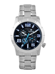 Titan Men Black Dial Watch