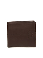 Titan Men Brown Leather Wallet