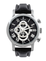 Titan Men Charcoal Black Dial Watch