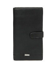 Titan Men Black Leather Passport Holder