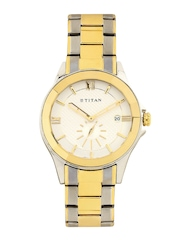 Titan Men White Dial Watch