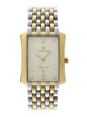 Titan Men Gold Toned Dial Watch