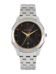 Titan Men Black Dial Watch NE1558SM02