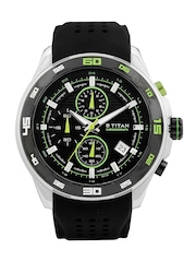Titan Men Black Dial Watch 90008KP02J