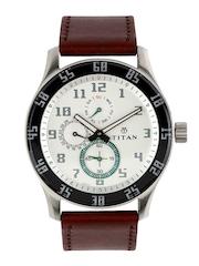 Titan Men Off-White Dial Watch 1632SL01