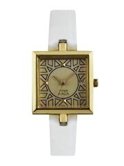 Titan Raga Women Gold Toned Dial Watch