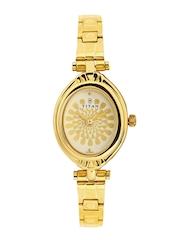 Titan Women Dull Gold-Toned Dial Watch 2538YM01
