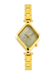 Titan Women Gold Toned Dial Watch