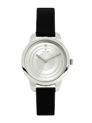 Titan Women Silver Toned Dial Watch