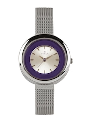 Titan Women Silver-Toned Dial Watch NE2482SM01