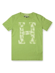 Tommy Hilfiger Boys Green Printed T-shirt